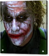 Why So Serious Acrylic Print by Paul Tagliamonte