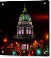 Wi State Capitol From West Washington Ave Acrylic Print
