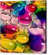 Wicker Marble Rainbow Fractal 2 Acrylic Print