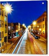 Wicker Park Light Trails Acrylic Print