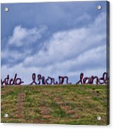 Wide Brown Land - Canberra - Australia Acrylic Print
