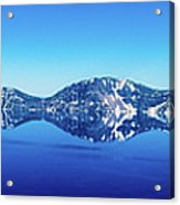 Wide Crater Lake Acrylic Print