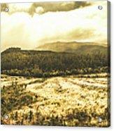 Wide Open Tasmania Countryside Acrylic Print