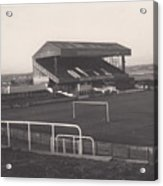Wigan Athletic - Springfield Park - Main Stand 1 - Bw - 1969 Acrylic Print