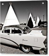 Wigwam Motel Classic Car #2 Acrylic Print