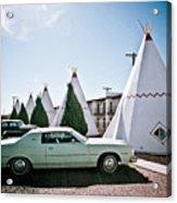 Wigwam Motel Classic Car #3 Acrylic Print