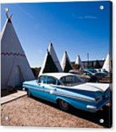 Wigwam Motel Classic Car #6 Acrylic Print