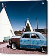 Wigwam Motel Classic Car #7 Acrylic Print