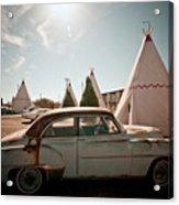 Wigwam Motel Classic Car #8 Acrylic Print