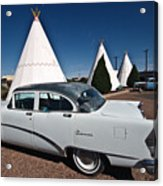 Wigwam Motel Classic Car Acrylic Print