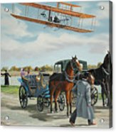 Wilbur Wright In France Acrylic Print