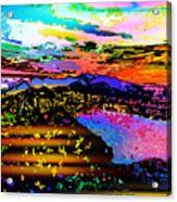Wild And Crazy Mountainous Sunset Acrylic Print