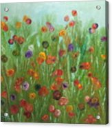 Wild Flowers Abstract Acrylic Print