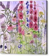 Wild Garden Flowers Acrylic Print