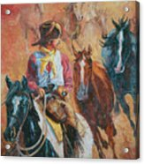 Wild Horse Stampede Acrylic Print