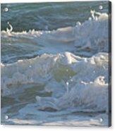 Wild Mediterranean Waves Acrylic Print