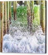 Wild Waves Under The Boardwalk Acrylic Print