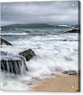 Wild Weather At Geodha Mhartainn On The Isle Of Harris Acrylic Print