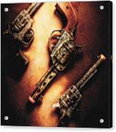 Wild West Cap Guns Acrylic Print