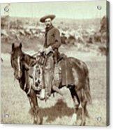 Wild West. The Cow Boy. Sturgis, Dakota Acrylic Print by Everett