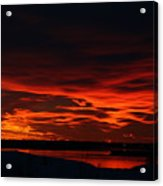 Wild Winter Sunset Acrylic Print