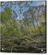 Wildcat Den Cliffs And Trees In Fall Acrylic Print
