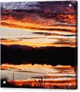 Wildfire Sunset Reflection Image 28 Acrylic Print