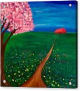 Wildflower Country Road Acrylic Print
