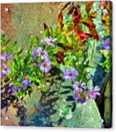 Wildflowers And Rocks Acrylic Print