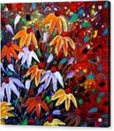 Wildflowers At Sunset Acrylic Print