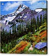 Wildflowers Mount Hood Acrylic Print