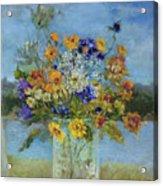 Wildflowers On The Lake Acrylic Print