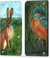 wildlife Quartet Acrylic Print