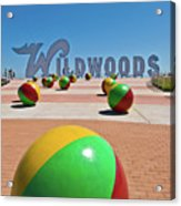 Wildwood's Sign, Wildwood, Nj Boardwalk . Copyright Aladdin Color Inc. Acrylic Print