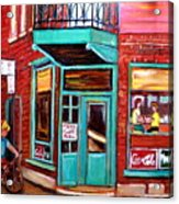 Wilenskys Cafe On Fairmount In Montreal Acrylic Print