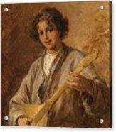 Wilhelm Amardus Beer, Portrait Of A Musician Boy Acrylic Print