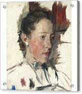 Wilhelm Leibl 1844 - 1900 German Bauernmadchen Farm Girl Acrylic Print