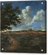 Wilhelm Von Bemmel A Panoramic View Of Nuremburg With Riders In The Foreground Acrylic Print