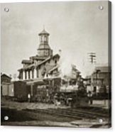 Wilkes Barre Pa. New Jersey Central Train Station Early 1900's Acrylic Print