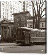 Wilkes Barre Pa Public Square Oct 1940 Acrylic Print