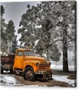 Will Plow For Snow Acrylic Print