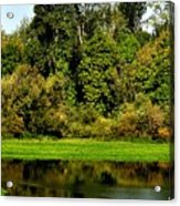 Willamette River Reflections 3813 Acrylic Print