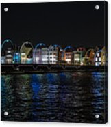 Willemstad Curacao At Night Acrylic Print