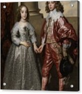 William II, Prince Of Orange, And His Bride, Mary Stuart Acrylic Print