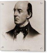 William Lloyd Garrison 1805-1879 Joined Acrylic Print by Everett