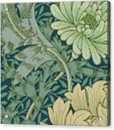 William Morris Wallpaper Sample With Chrysanthemum Acrylic Print