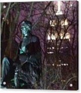 William Seward And Empire State Building 1 Acrylic Print