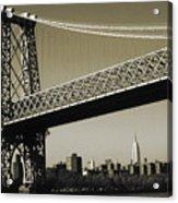 Old New York Photo - Williamsburg Bridge Acrylic Print