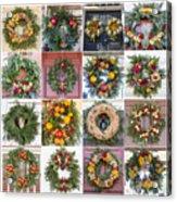 Williamsburg Christmas Collage Squared 3 Acrylic Print