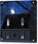 Williamsburg House In Moonlight Acrylic Print